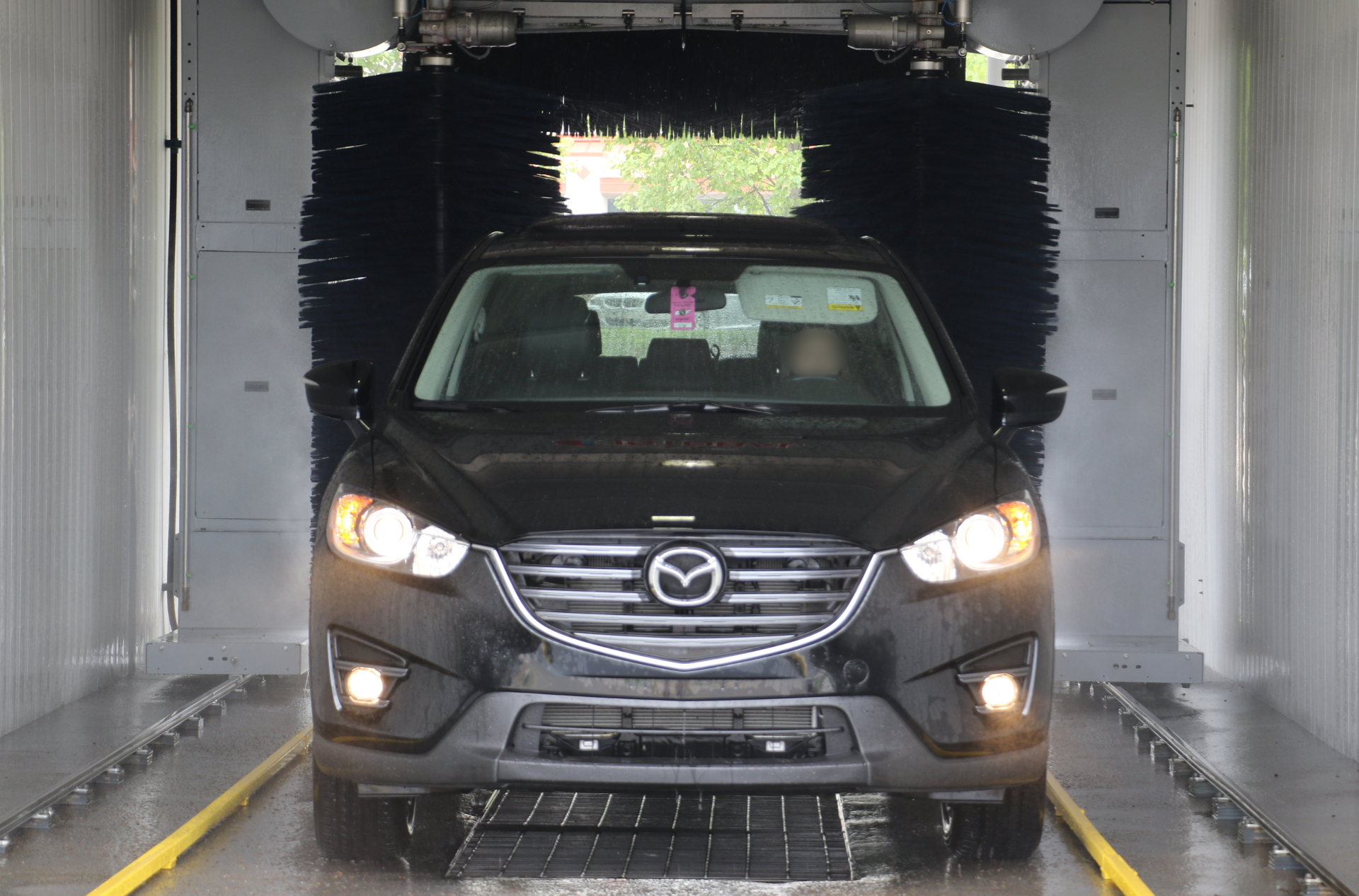 Image of the iWash car wash friction bay. iWash is a car wash in the Brentwood and Nashville area.