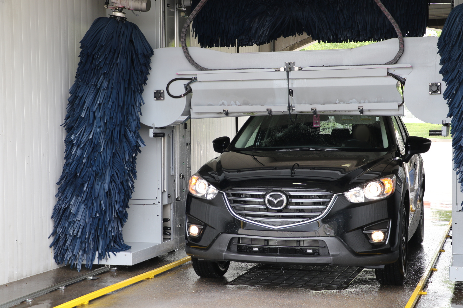 Image of the iWash car wash dryers. iWash is a car wash in the Brentwood and Nashville area.